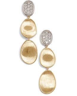 'lunaria' Diamond Drop Earrings