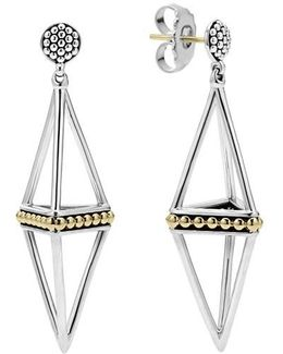 'ksl' Pyramid Drop Earrings