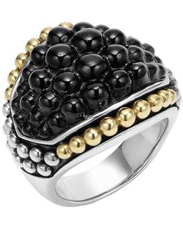 'black Caviar' Dome Ring