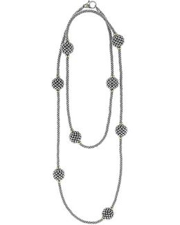 'caviar Forever' Station Rope Long Necklace