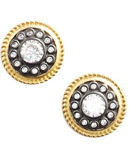 'nautical Button' Stud Earrings