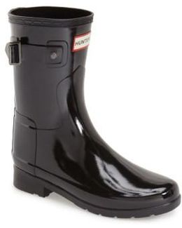 'refined Short' Gloss Rain Boot