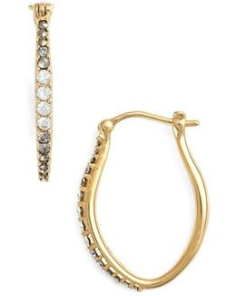 Marcasite & Swarovski Crystal Hoop Earrings