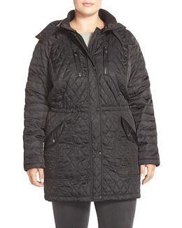 Detachable Hood Quilted Anorak