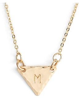 14k-gold Fill Initial Triangle Necklace