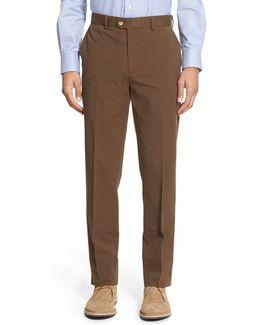 Trim Fit Stretch Cotton Ottoman Trousers