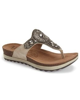 Pamela Leather Thong Sandals