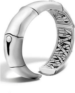 'bamboo' Silver Wrist Cuff