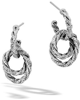 'classic Chain' Double Twisted Hoop Earrings