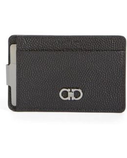 'ten-forty One' Leather Money Clip Card Case