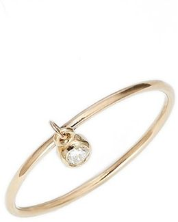 Dangling Diamond Ring