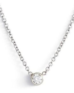 Diamond Bezel Pendant Necklace