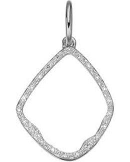 'riva' Diamond Hoop Pendant