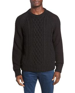 Newport Cable Knit Crewneck Sweater