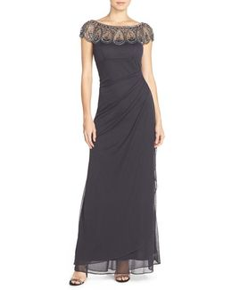Ruched Jersey Gown