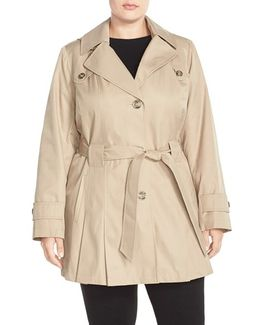 'scarpa' Single Breasted Hooded Trench Coat