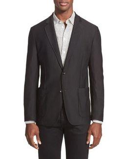 Trim Fit Textured Sport Coat
