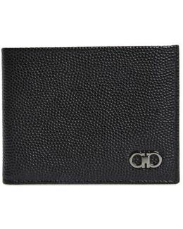 'ten Forty One' Bifold Textured Leather Wallet