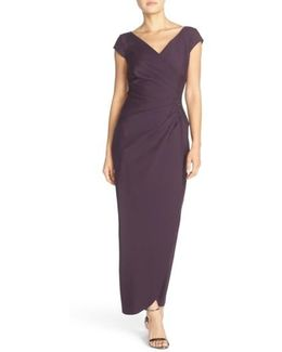 Embellished Jersey Column Gown