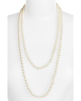 7mm Round Pearl Endless Rope Necklace