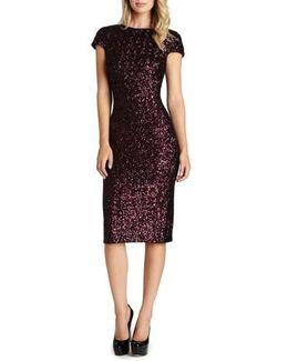 'marcella' Open Back Sequin Body-con Dress
