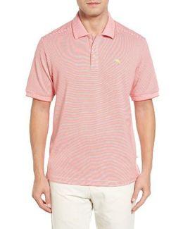 'emfielder' Stripe Pima Cotton Blend Polo
