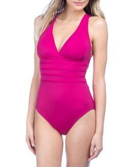 Cross Back One-piece Swimsuit