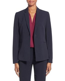 Jolie Stretch Woven Suit Jacket