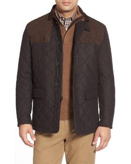'shooter' Wool Blend Quilted Jacket