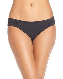 Side Shirred Hipster Bikini Bottoms