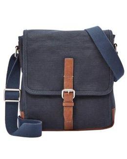 'davis' Canvas Messenger Bag
