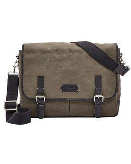 'graham' Canvas Messenger Bag