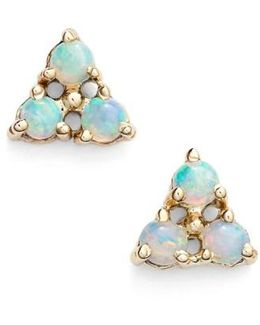 Triangle Opal Earrings