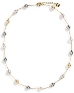 8mm Pearl Station Necklace