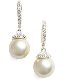 Imitation Pearl Drop Earrings