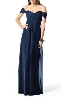Ruched Chiffon Gown