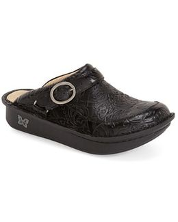 Seville Water-Resistant Buckled Clogs