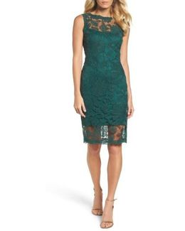 Corded Lace Sheath Dress