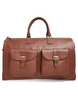 Leather Garment/duffel Bag
