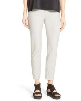 Stretch Crepe Slim Ankle Pants