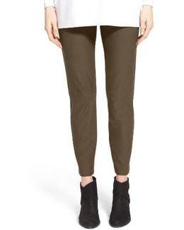 Stretch Crepe Slim Ankle Pants