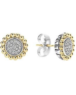 Diamond Caviar Stud Earrings