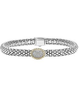 Diamond Caviar Oval Bracelet