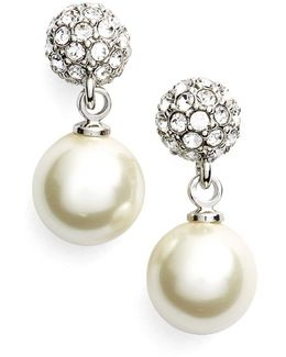 Fireball Imitation Pearl Drop Earrings