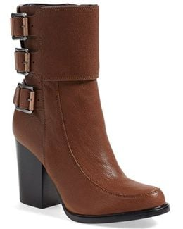 Dezi Buckled Leather Ankle Boots