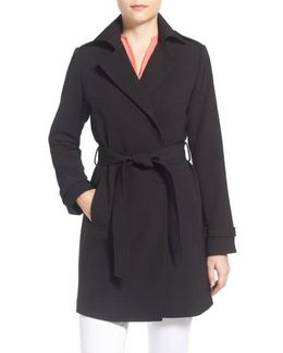 Single-Breasted Crepe Trench Coat