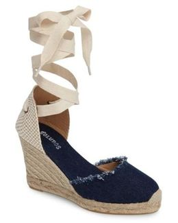 Wedge Lace-up Espadrille Sandal