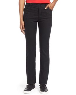 Curvy Fit Jacquard Stretch Slim Leg Jeans