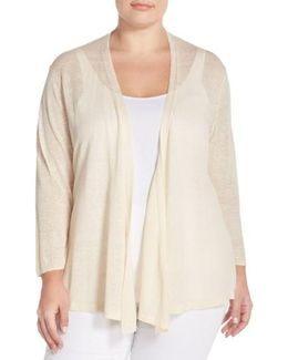 '4-way' Three Quarter Sleeve Convertible Cardigan