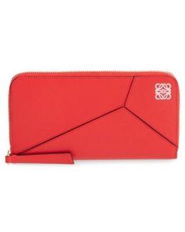 'puzzle' Leather Zip Around Wallet